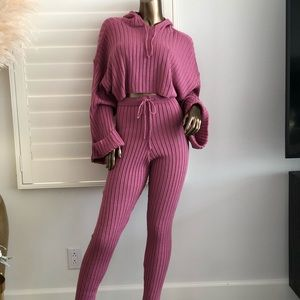 Pink Cable Knit Jumper & Legging Set!